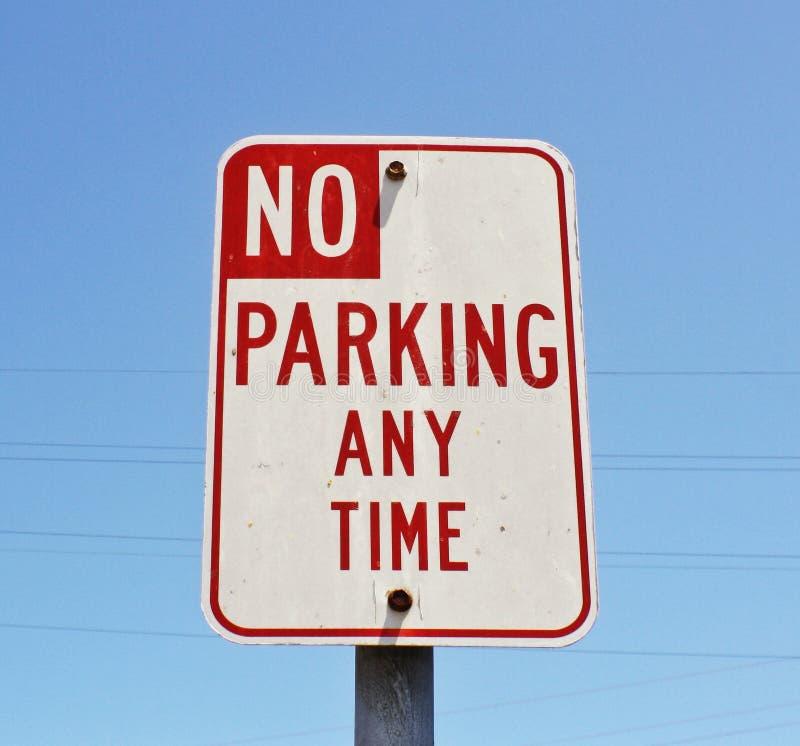 Nessun parcheggio in qualunque momento fotografia stock