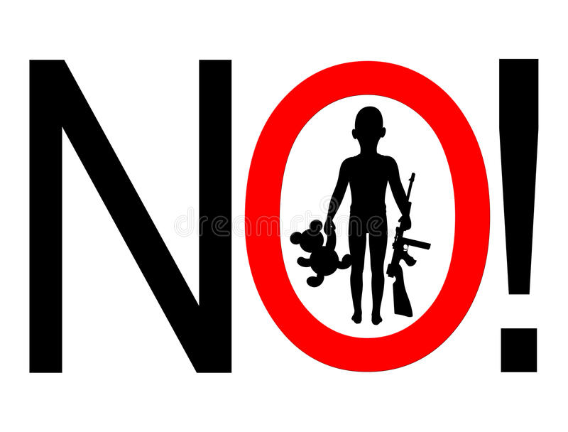 Nessun pistole per i bambini royalty illustrazione gratis