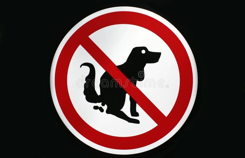 Nessun pooping dal segno dei cani isolato illustrazione vettoriale