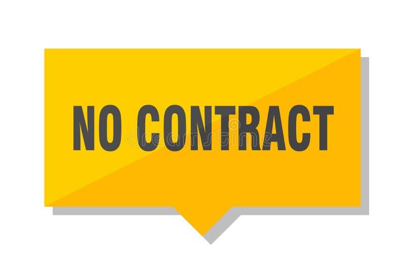 Nessun prezzo da pagare del contratto royalty illustrazione gratis