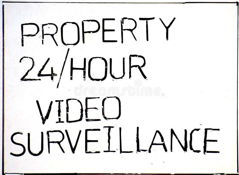 Nessun ricciolo che passa proprietà nell'ambito della videosorveglianza fotografia stock libera da diritti