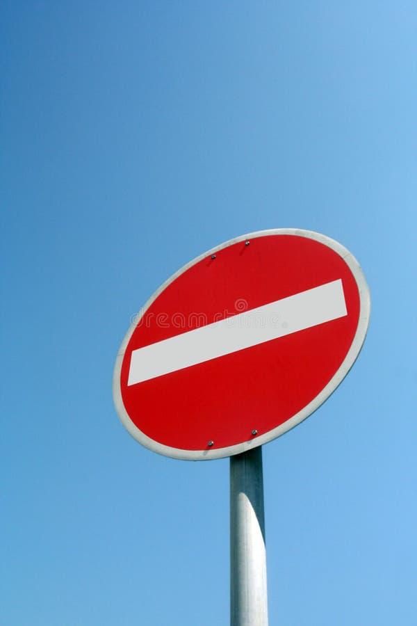 Nessun segnale stradale dell'entrata immagine stock