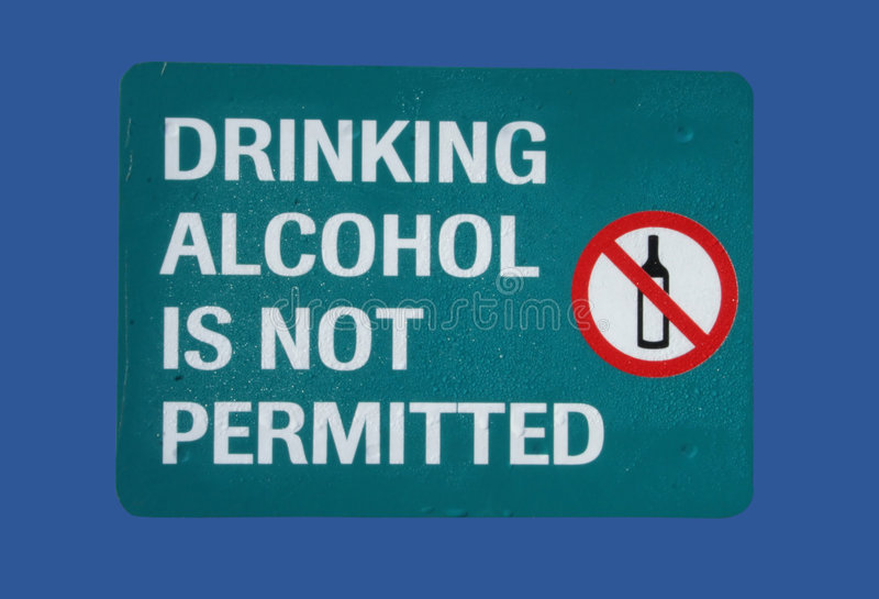 Nessun segno bevente dell'alcool fotografia stock libera da diritti