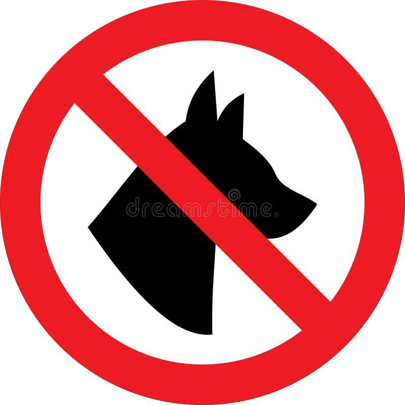 Nessun segno dei cani illustrazione vettoriale
