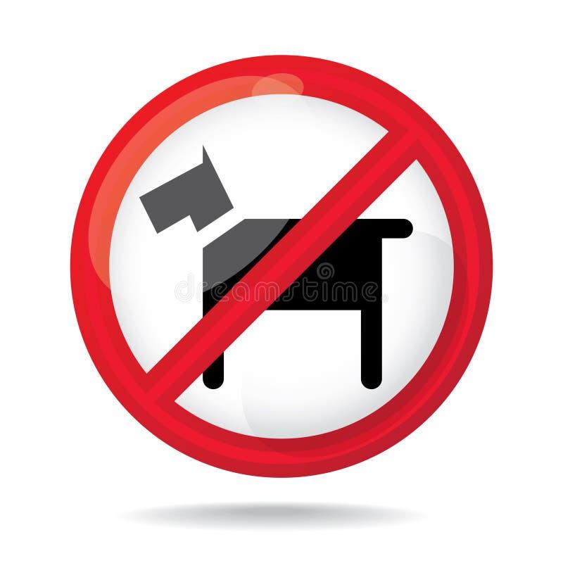 Nessun segno dei cani royalty illustrazione gratis