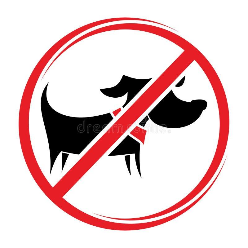 Nessun segno dei cani, fa non conceduto illustrazione di stock
