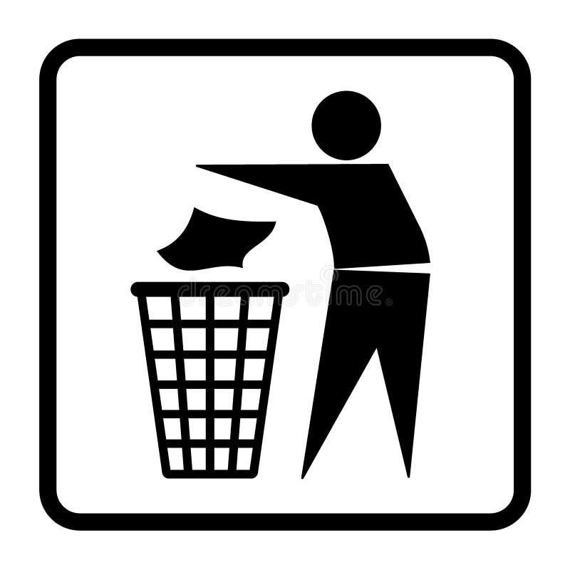 Nessun segno dei rifiuti illustrazione vettoriale