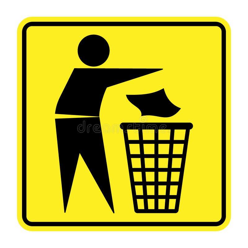 Nessun segno dei rifiuti illustrazione di stock