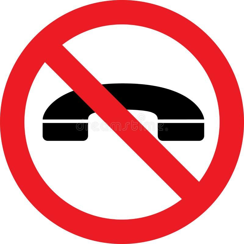 Nessun segno dei telefoni royalty illustrazione gratis