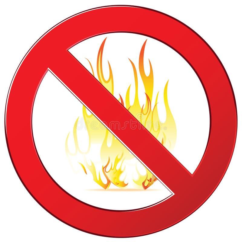 Nessun segno del fuoco illustrazione vettoriale