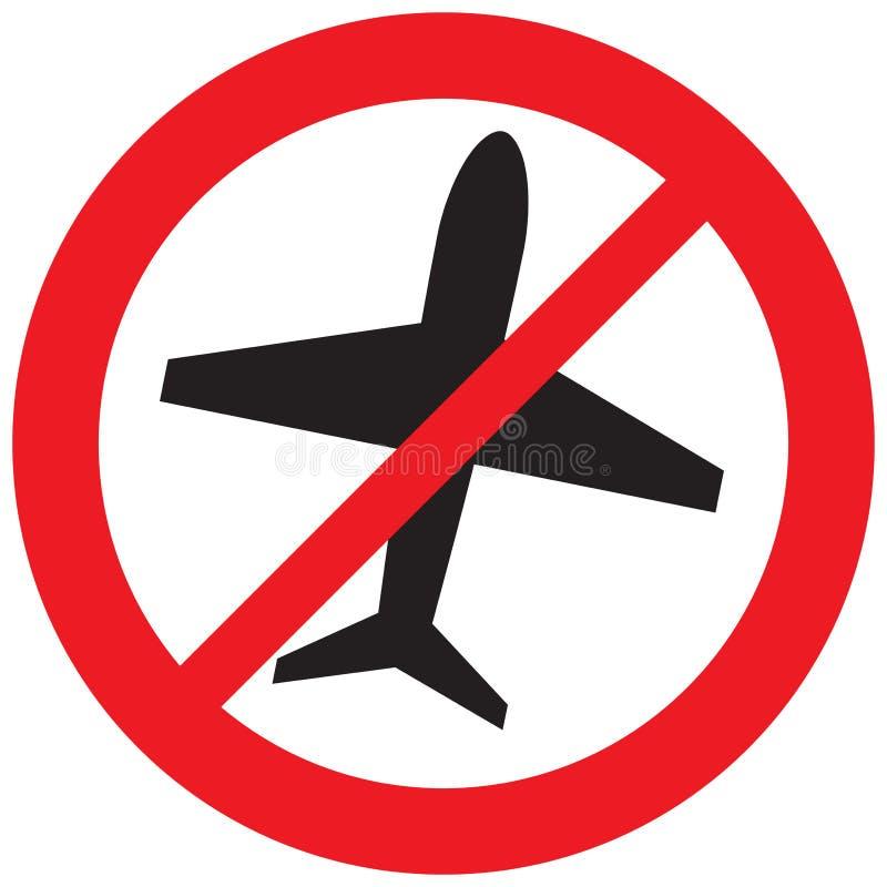 Nessun segno dell'aeroplano royalty illustrazione gratis