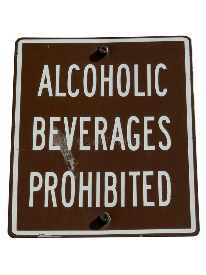 Nessun segno dell'alcool isolato dal percorso di residuo della potatura meccanica immagine stock