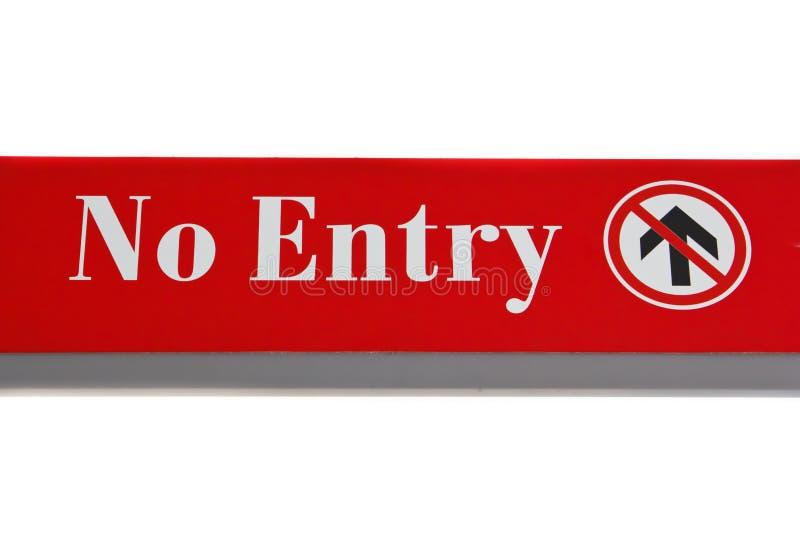 Nessun segno dell'entrata. immagine stock