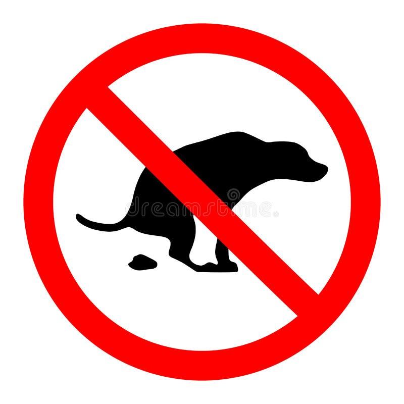 Nessun segno della poppa dei cani illustrazione vettoriale