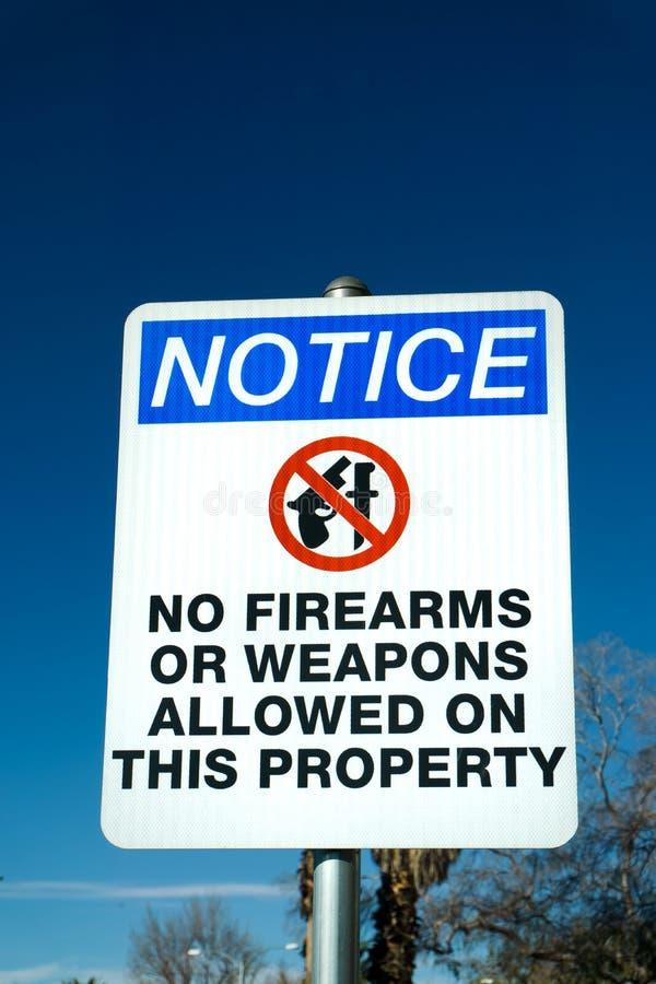 Nessun segno delle armi o delle armi da fuoco immagini stock libere da diritti