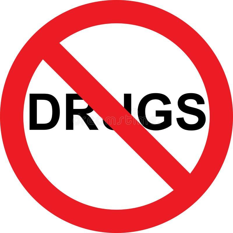 Nessun segno delle droghe illustrazione di stock