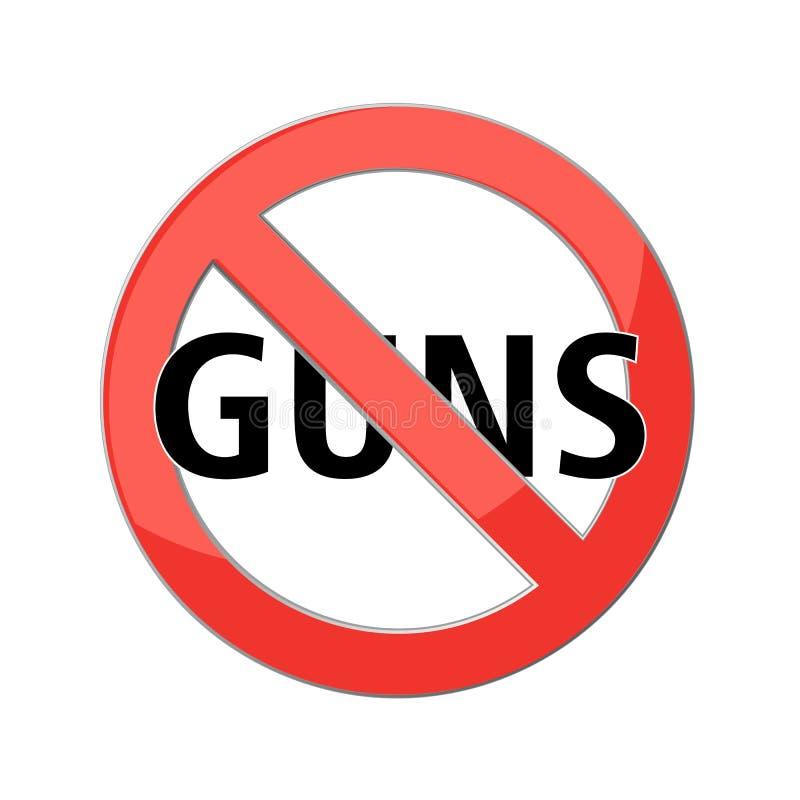 Nessun segno delle pistole illustrazione vettoriale