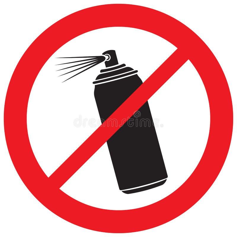 Nessun segno dello spruzzo di aerosol royalty illustrazione gratis