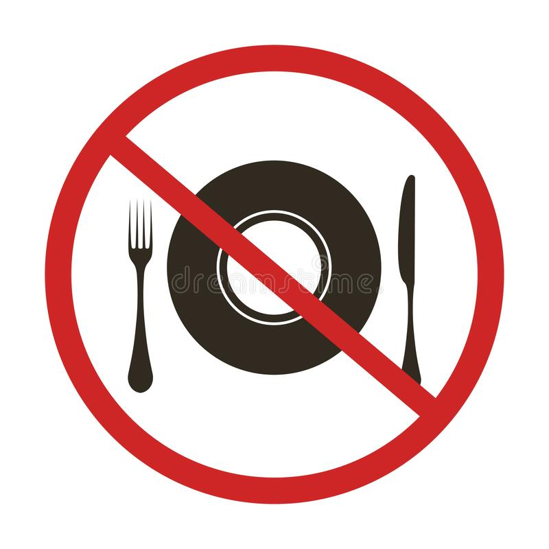Nessun segno di cibo illustrazione di stock
