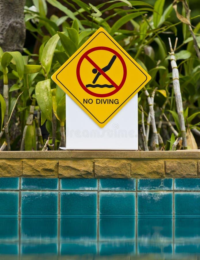 Nessun segno di immersione subacquea fotografia stock libera da diritti
