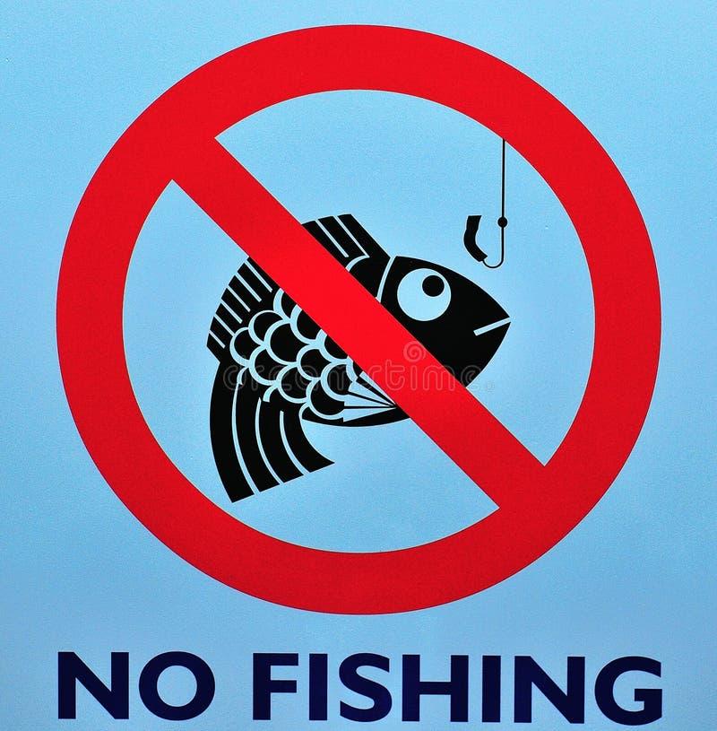 Download Nessun segno di pesca immagine stock. Immagine di gancio - 7320493