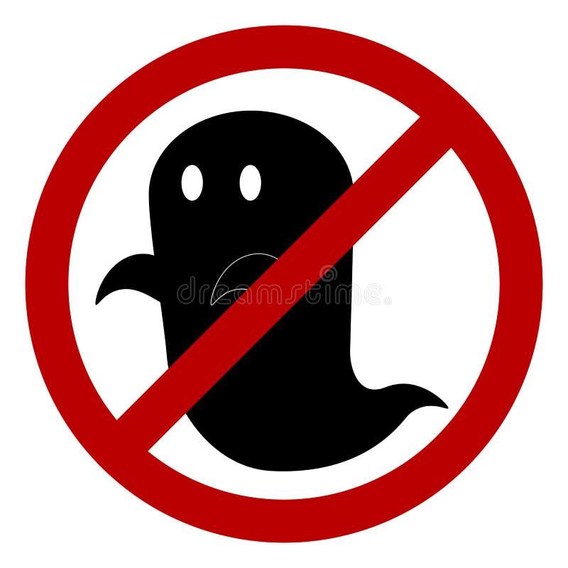 Nessun segno permesso fantasma illustrazione di stock