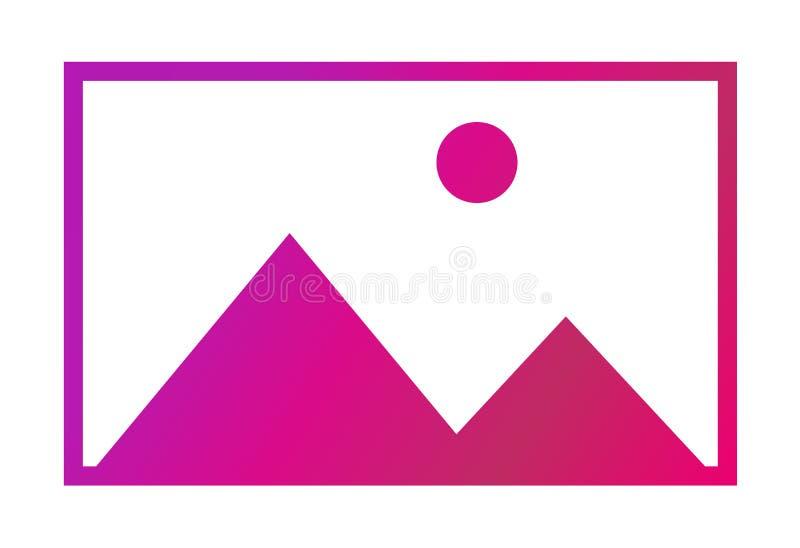 Nessun simbolo di vettore di immagine, icona disponibile mancante Nessuna galleria per questo momento illustrazione vettoriale