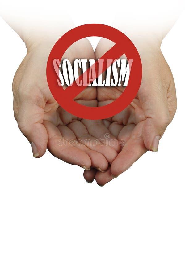 Nessun socialismo in America fotografia stock