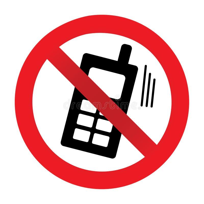 Nessun telefono permesso illustrazione vettoriale