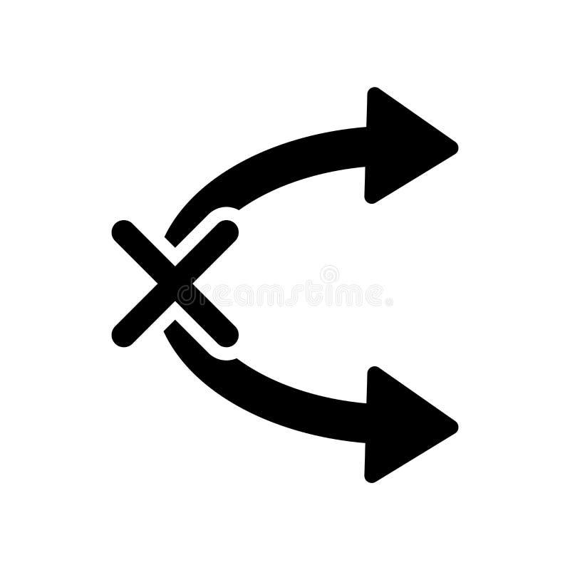 Nessun vettore isolato su fondo bianco, nessun Tittlin dell'icona di Tittling illustrazione vettoriale