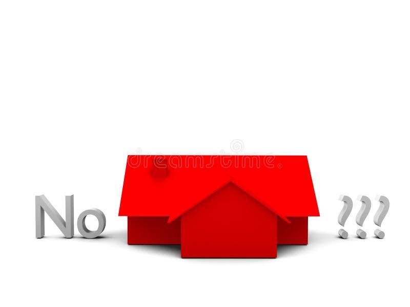 Nessuna casa illustrazione vettoriale