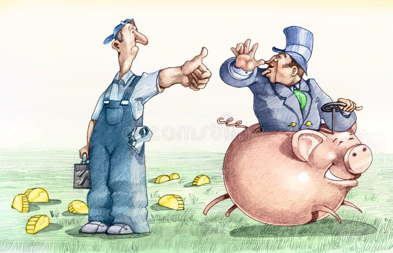 Nessuna divisione della ricchezza illustrazione di stock