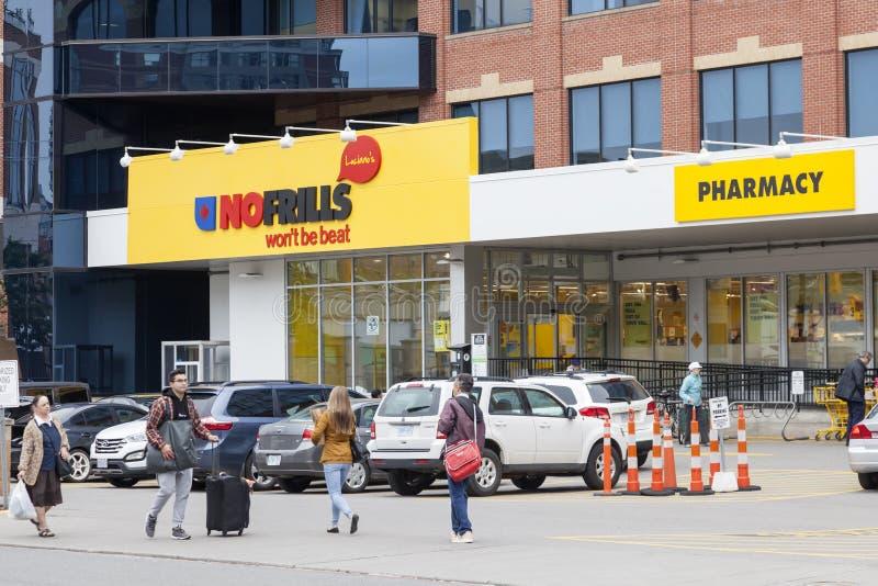 Nessuna drogheria degli arricciamenti a Toronto, Canada fotografia stock