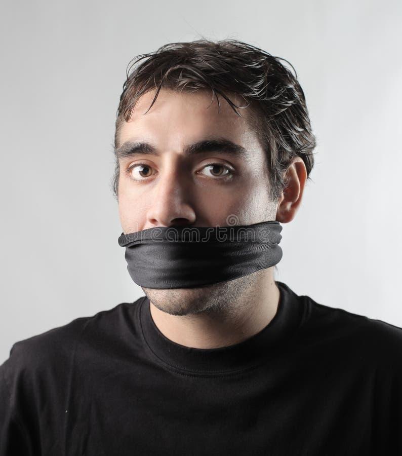 Nessuna libertà di parola fotografia stock