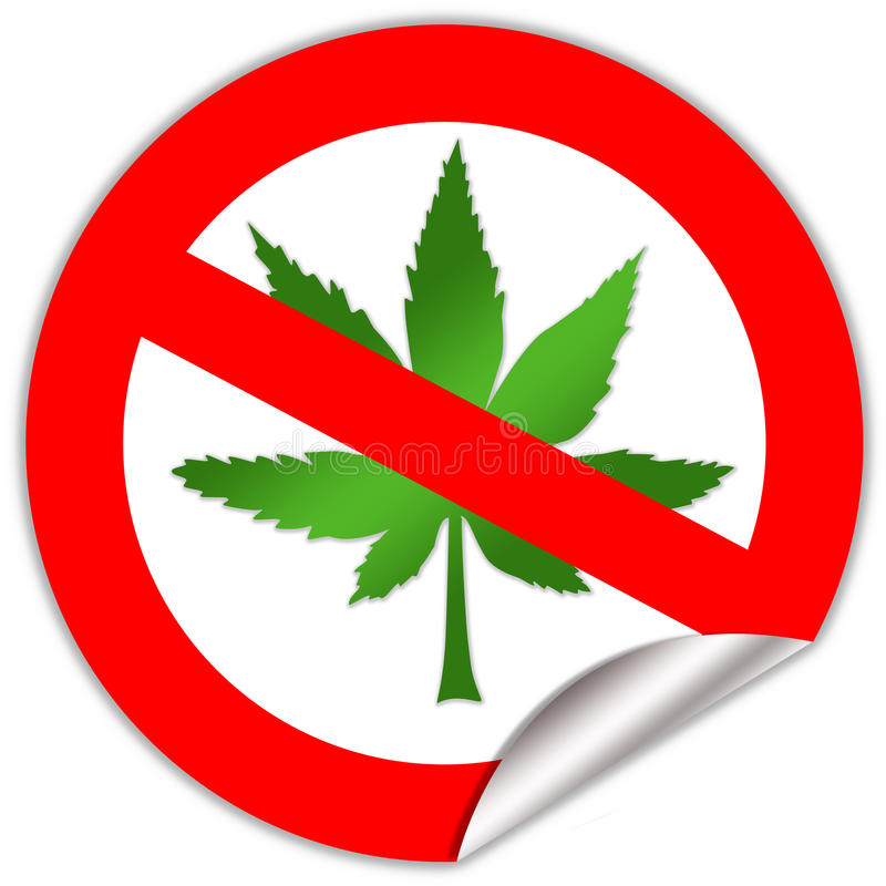 Nessuna marijuana illustrazione vettoriale