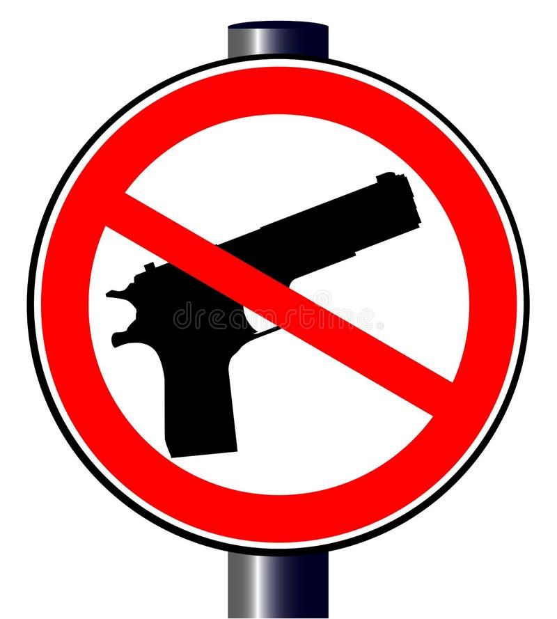 Nessuna pistola ha conceduto illustrazione vettoriale
