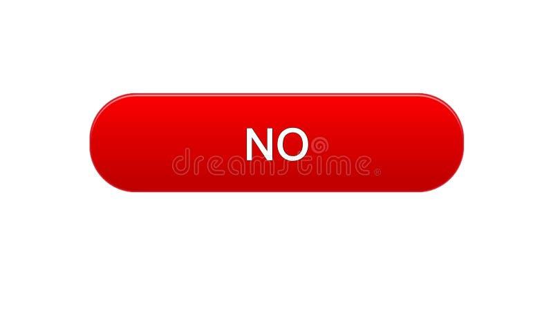 Nessuna progettazione di colore rosso del bottone dell'interfaccia di web, modulo di iscrizione online, servizio di Internet royalty illustrazione gratis