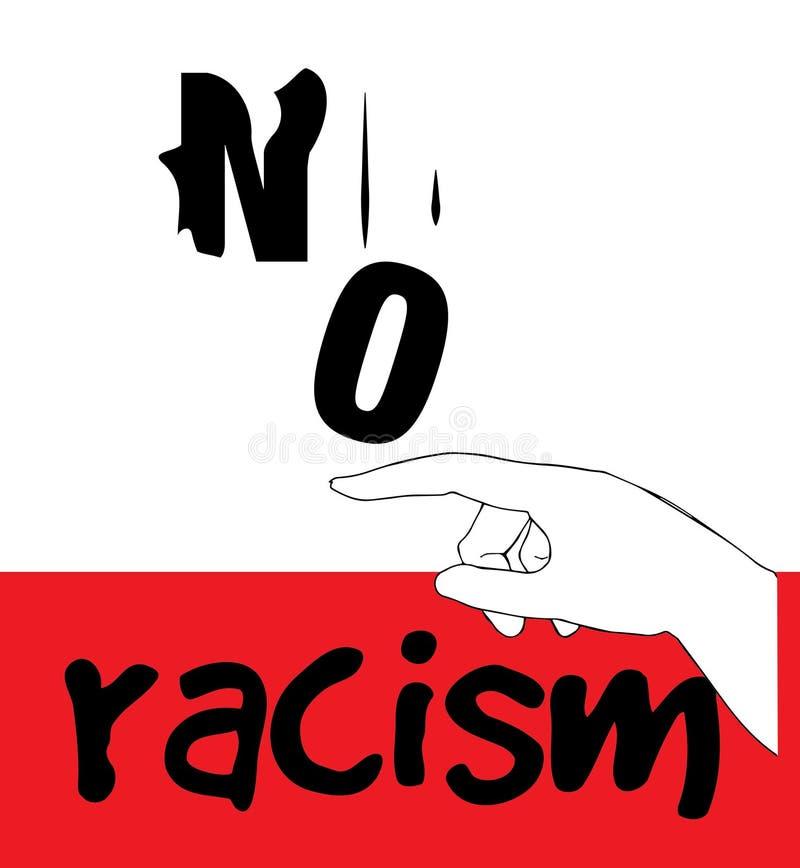 Nessuna progettazione di massima di razzismo royalty illustrazione gratis