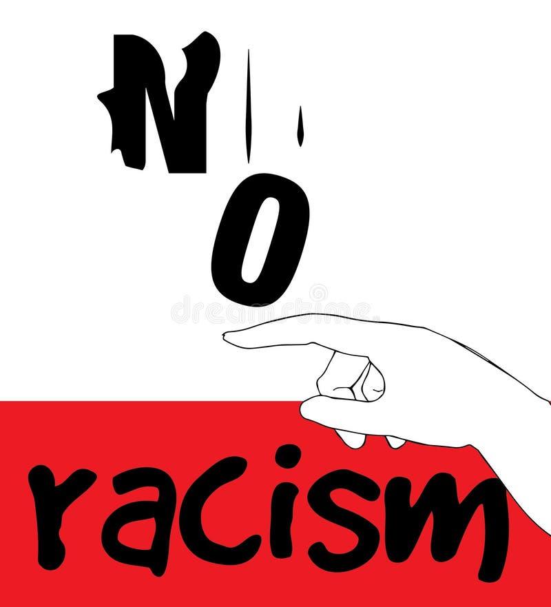Nessuna progettazione di massima di razzismo illustrazione vettoriale