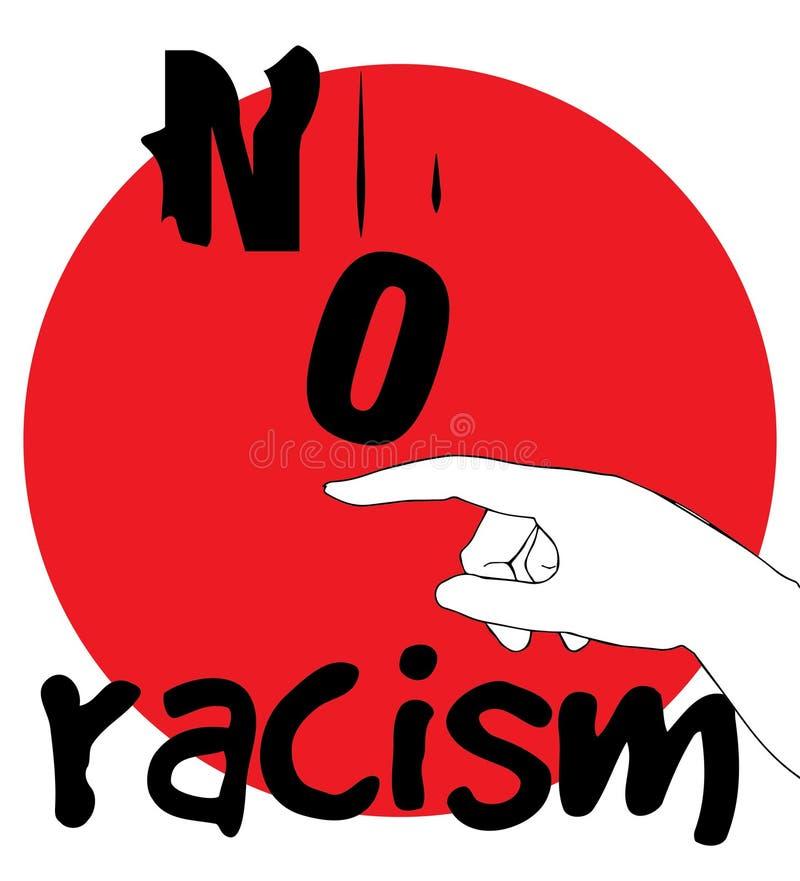 Nessuna progettazione di massima di razzismo illustrazione di stock