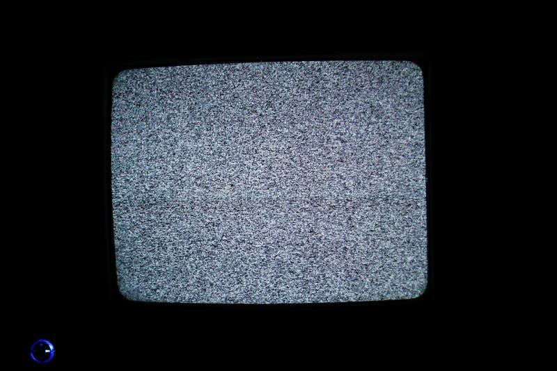 Nessuno schermo del segnale TV fotografie stock libere da diritti