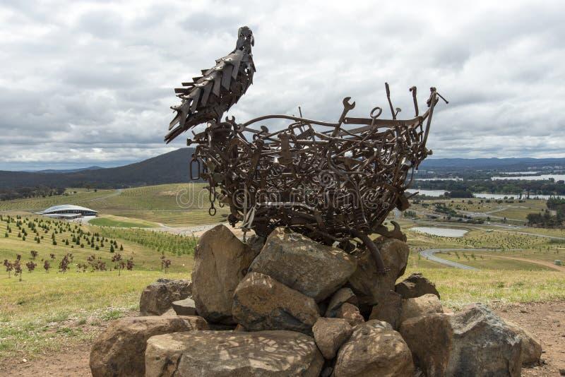 Nest 111 beeldhouwwerk Nationaal Arboretum stock afbeeldingen