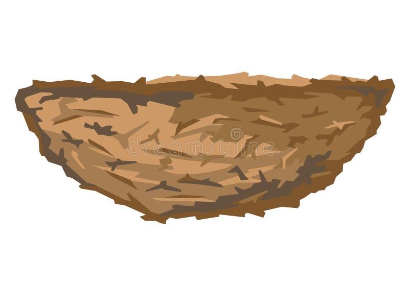 Nest des Vogels vektor abbildung