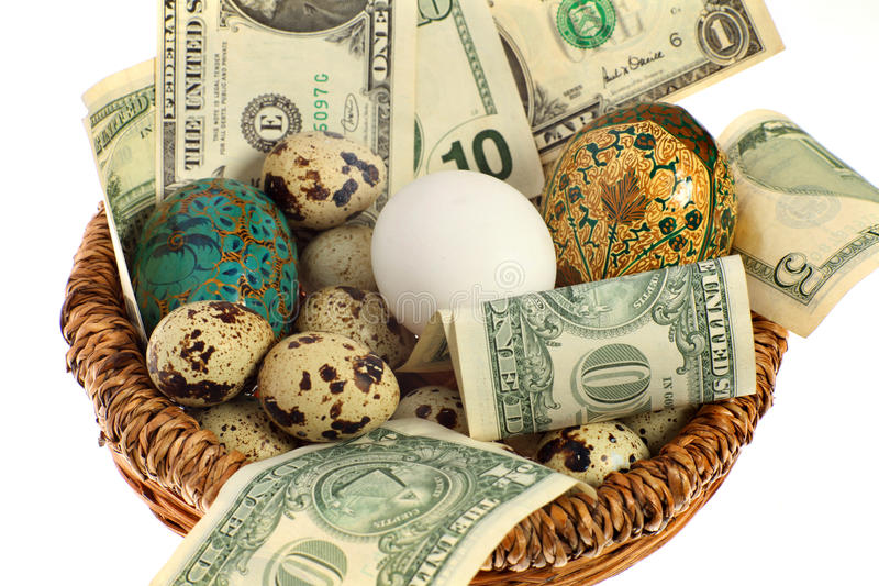 Download Nest egg in one basket stock photo. Image of income, over - 11147058