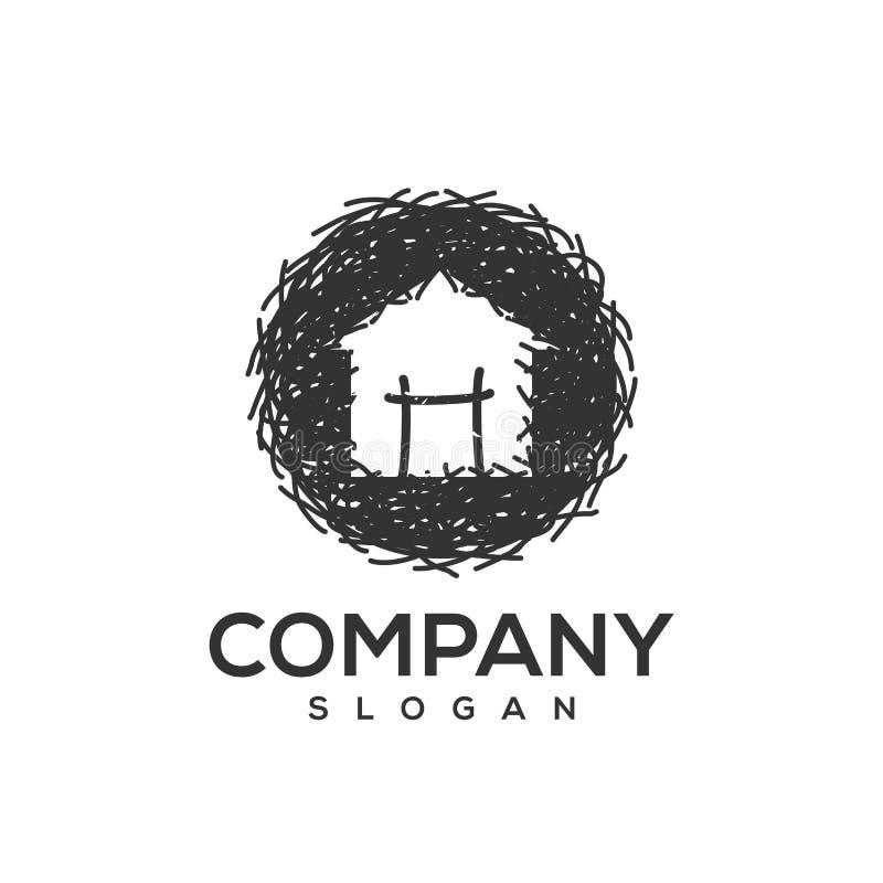Free Nest Logo Design Ready To Use Royalty Free Stock Photo - 143923435