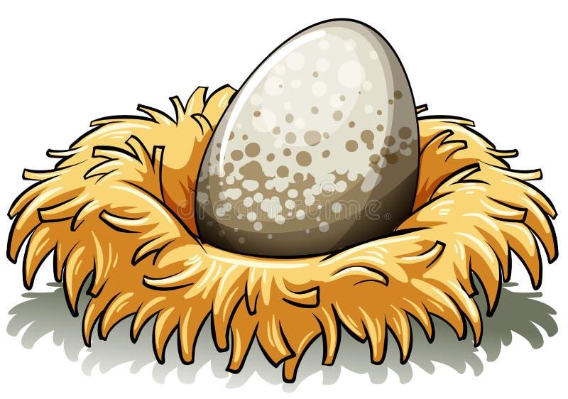 Nest mit einem Ei stock abbildung