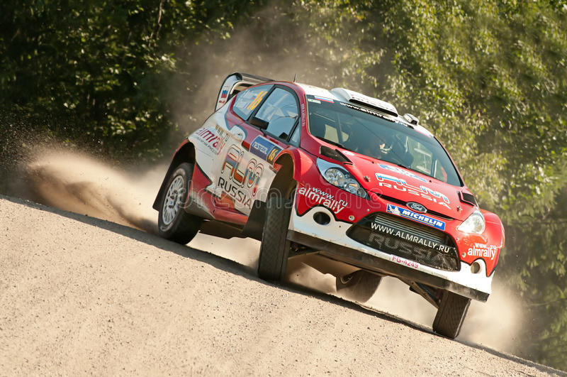 Neste Oil Rally Finland 2011 - Evgeny Novikov royalty free stock photography