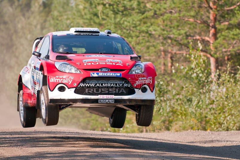 Neste Oil Rally Finland 2011 - Evgeny Novikov royalty free stock photo