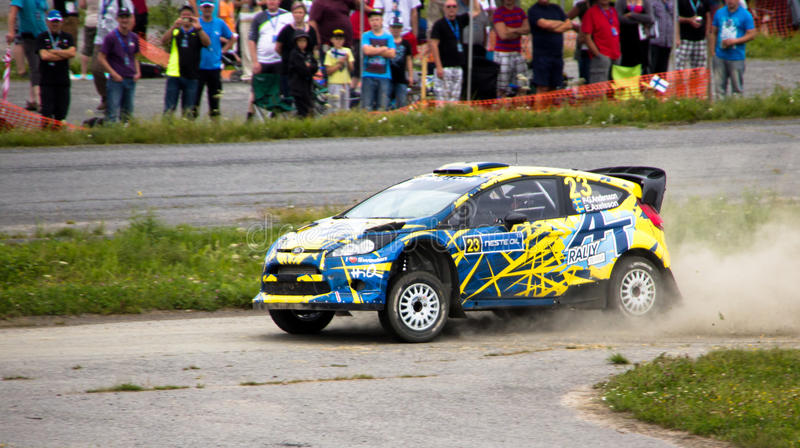 Neste Rally Finland 1st August 2013 Andersson royalty free stock photography