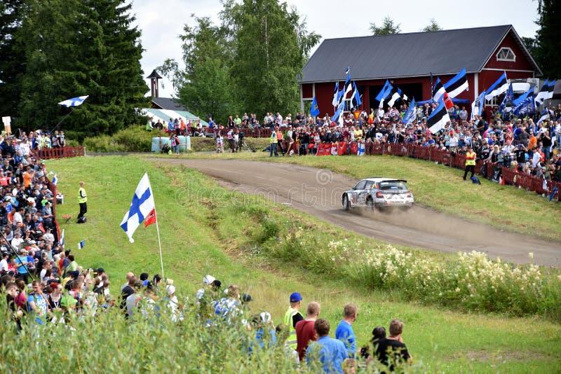 Neste Rally 2017, Ouninpohja 1 royalty free stock photography